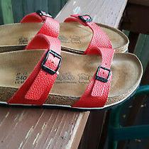 Womens Birkenstock Birki's Tahiti Soft Footbed Two Strap Sandals Size 37/6 N Photo