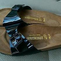 Womens  Birkenstock Madrid Birko Floor Black Patent Sandals  Sz 9/9.5 or 40euro Photo