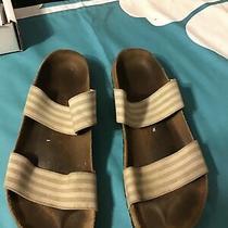 Womens Birkis Birks Birkenstock Open Toe Slides Slide Sandals Model 245 Size 38 Photo