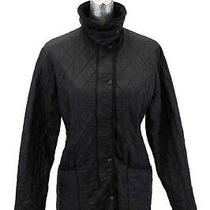 Womens Black Barbour Barn Jacket Coat Puffer Puffy Quilted Casual Slick M 10 Photo