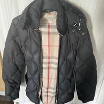 Womens Black Burberry Brit Jacket Size Xs Photo