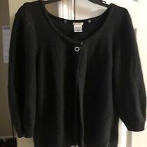 Womens Black Cardigan Sweater Xl Photo