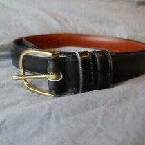 Womens Black Coach Belt Size 38 Black Belt Pre Owned Photo