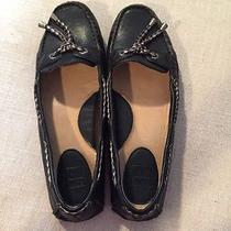 Womens Black Frye Flats Photo