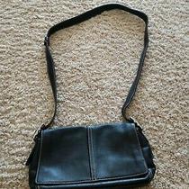 Womens Black Soft Leather Coach Crossbody Quality Small Purse Photo