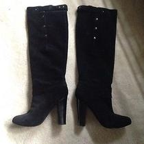 Womens Black Suede Boots Photo