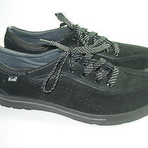 Womens Black Suede Keds Fashion Sneakers Athletic Sports Shoes Size 11 M Photo