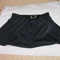 Womens Black Swimsuit Bottom W/ Silver Buckle by Classic Elements-Size 10-Preown Photo