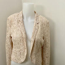 Womens Blazer Top Jacket Blush Lace Sz 4 Us - Sz 36 Germany Photo