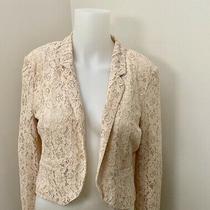 Womens Blazer Top Jacket Blush Lace Sz 4 Us - Sz 36 Germany Photo