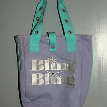 Womens Bling Bling Purple Aqua Blue Tote Bag Purse Cute Photo