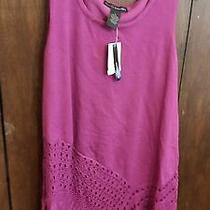 Womens Blouse Grace Elements   Nwt Retailed Price 60.00 Size Med Color Violet Photo