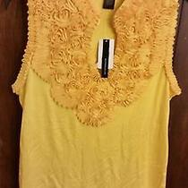 Womens Blouse Grace Elements   Nwt Retailed Price 60.00 Size Med Color Yellow Photo
