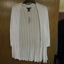 Womens Blouse Nwt Grace Elements Retailed Price 70.00 Size L Color White Photo