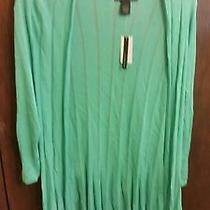 Womens Blouse Nwt Grace Elements Retailed Price 70.00 Size L Color Green Photo