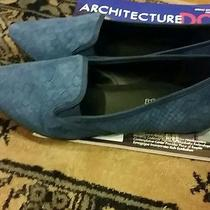 Womens Blue Suede Flat Shoes by Aldo Like Mint Condition Size 9 Photo