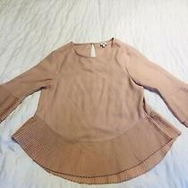 Womens Blush Pink Size 8 River Island Blouse Pleated  Photo