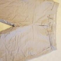 Womens Boyfriend Rollup Khaki Shorts Size 00 Gray Excellent Condition  Photo