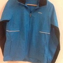 Womens Bright Blue Zip Up Collared Long Sleeve Reebok Jacket S Small Pockets Euc Photo