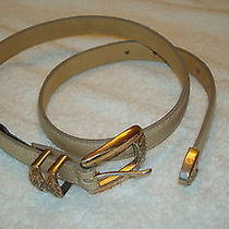 Womens Brighton Beige Look Leather Belt -Size M Photo