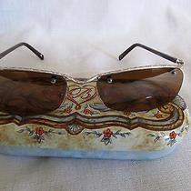 Womens Brighton Highland Sunglasses Silver Sunglasses Mint Condition With Case Photo