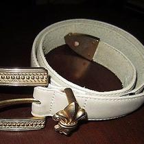 Womens Brighton Ivory Belt Size Small Luxury 31