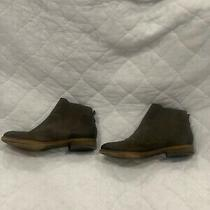 Womens Brown Leather Ankle Bootie Franco Sarto Size 8.5us Great Condition Photo