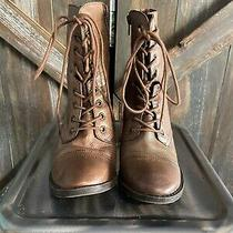 Womens Brown Leather Distressed Steve Madden Boots Sz. 8 Photo