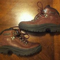 Womens Brown Leather Timberland Boots Size 7 and a Half  Photo