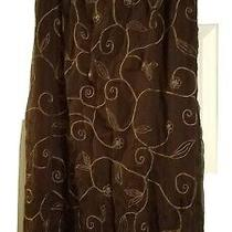 Womens Brown Sarong Skirt With Embroidery and Beading by Express  Size Large. Photo
