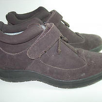 Womens Brown Suede Keds Ankle Boots Heels Comfort Casual Winter Shoes Size 7 M  Photo