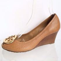 Womens Brown Tory Burch Wedge Shoes Size 7 M  Photo