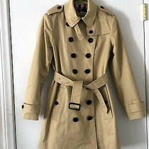 Womens Burberry Double Breasted Trench Jacket. Beige S / Us 4 Photo