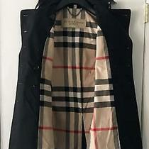 Womens Burberry Double Breasted Trench Jacket. Black S / Us 4 Photo