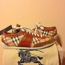 Womens Burberry Ellery Haymarket Low Top Sneaker Size 10 (Nib) Photo