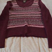 Womens Burgendy Lambs Wool Sweater Photo