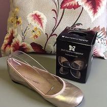 Womens Butterfly Twists Sophia Rose Gold Folding Ballerina Flats Us 9 Photo