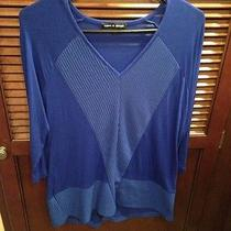 Womens Cable & Gauge Knit Shirt Size Medium Photo