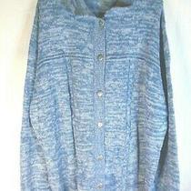 Womens Cardigan Sweater Blue Size Xxl Photo
