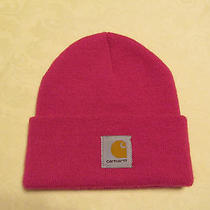Womens Carhartt Beanie Watch Hat Dark Pink Photo