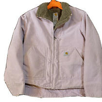 Womens Carhartt Utility Jacket Sherpa Lined Size Medium Pink Photo
