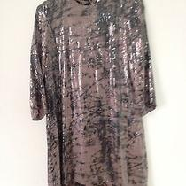 Womens Charcoal Parker Sequin Dress Size M Photo