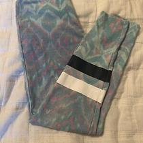 Womens Chaser Leggings - Teal & Pink Ikat - Size S - Vguc Photo