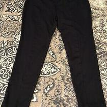 Womens Chelsea & Theodore Anthropologie Navy Blue Stretch Pants Size Large L Photo
