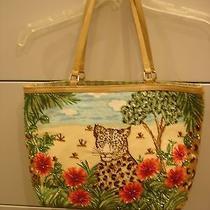 Womens Christy Multi Color Jungle Rhinestone Strap Handbag Vintage Tote Bag Photo