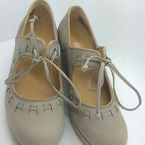 Womens Clarks Vogue Blush Stone Leather Mary Janes Heels Lifts Pumps Nice 6 M Photo