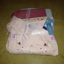 Womens  Classic Elements Plus Size 3x Melon  Floral Sleepwear Pajamas 3pc Set Photo