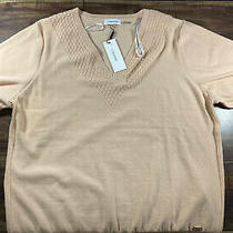 Womens Clavin Klein v-Neck Sweater Blush Pink Size Xl Photo