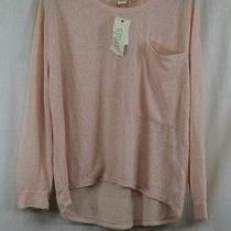 Womens Cloth by Rdi Knit Top Pure Blush Round Collar Long Sleeve Large Nwt Photo