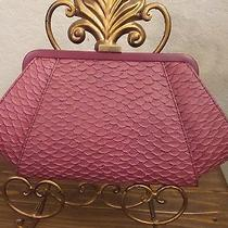 Womens Clutch Bag Designer Zac Posen Berry Gold Chain Textured Orig. 295. Nwt Photo